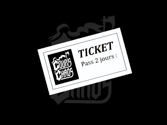 Le pass 2 jours est actuellement en prévente pour le festival Courts of chaos 2017