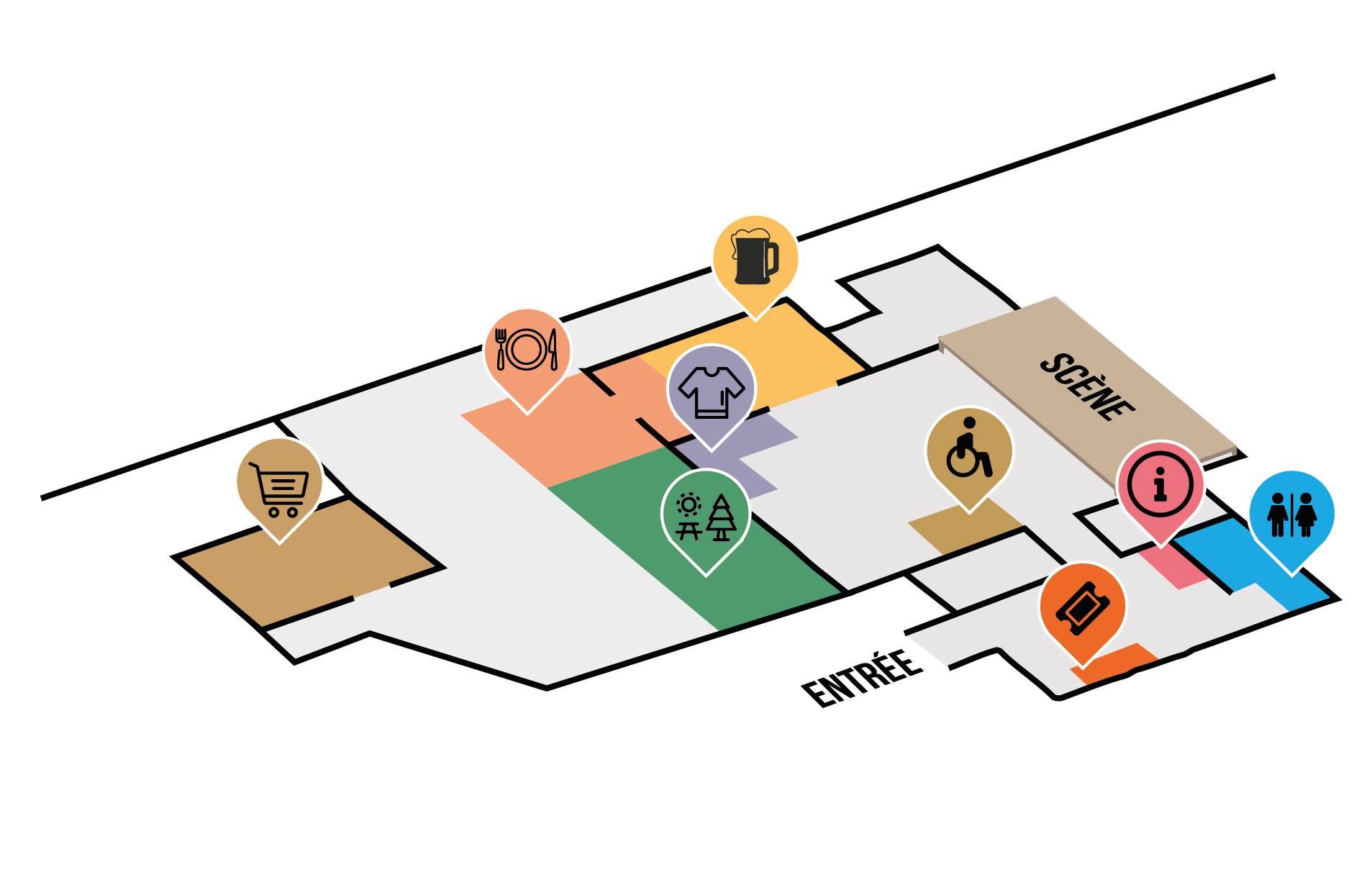 Plan du festival